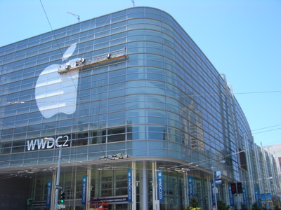 Moscone West being prepared for WWDC